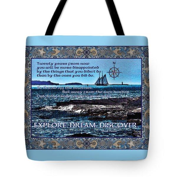 Celtic Explorer - Bluenose II In Halifax Harbour Tote Bag