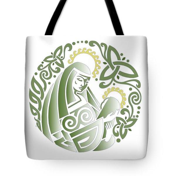 Celtic Green Madonna Tote Bag
