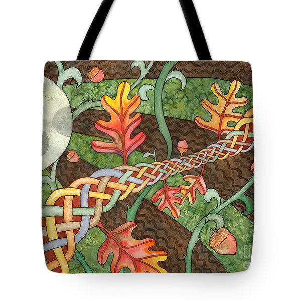 Celtic Harvest Moon Tote Bag