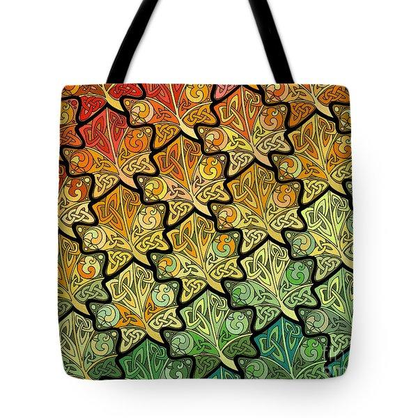 Celtic Leaf Transformation Tote Bag
