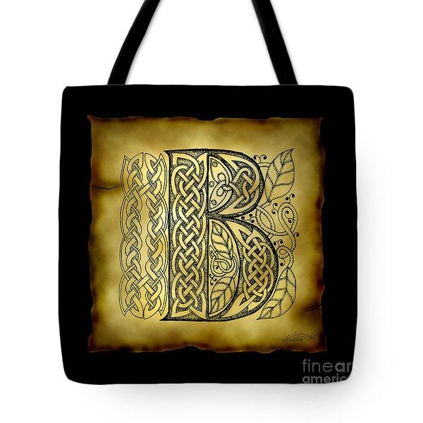 Celtic Letter B Monogram Tote Bag