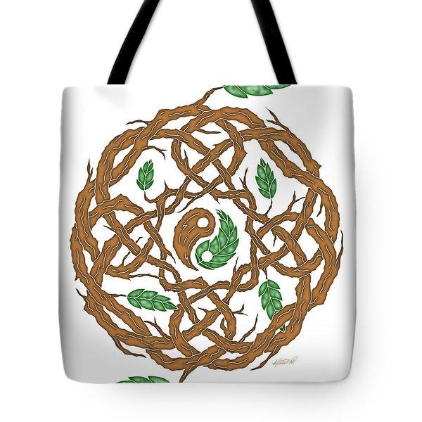 Celtic Nature Yin Yang Tote Bag