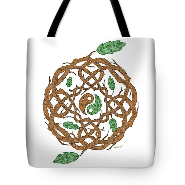 Celtic Nature Yin Yang Tote Bag
