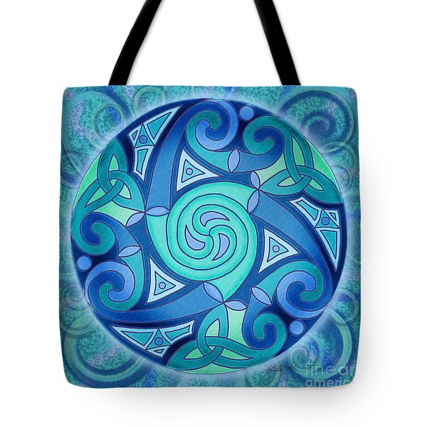 Celtic Planet Tote Bag by Kristen Fox