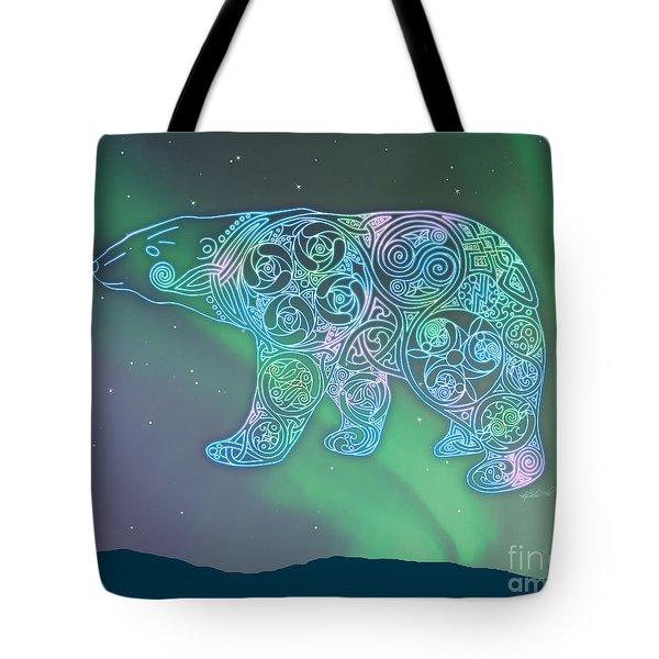 Celtic Polar Bear Tote Bag