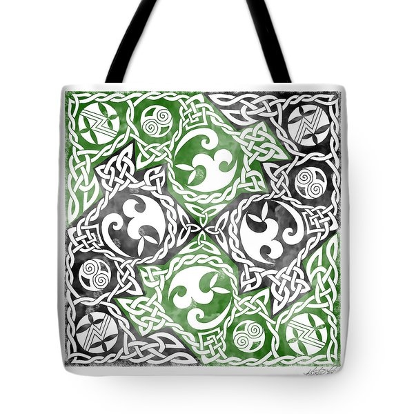 Tote Bag featuring the photograph Celtic Puzzle Square by Kristen Fox