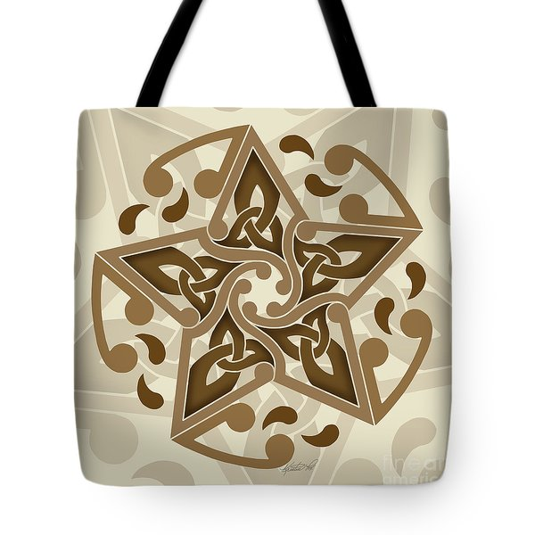 Tote Bag featuring the mixed media Celtic Star by Kristen Fox