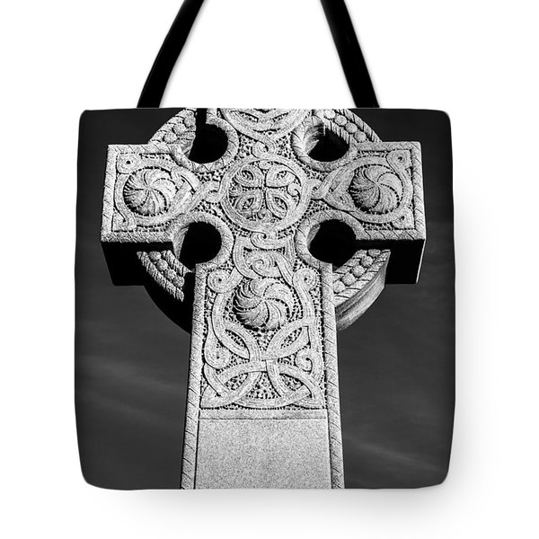 Celtic Stone Cross At Sunset Tote Bag by Gary Whitton