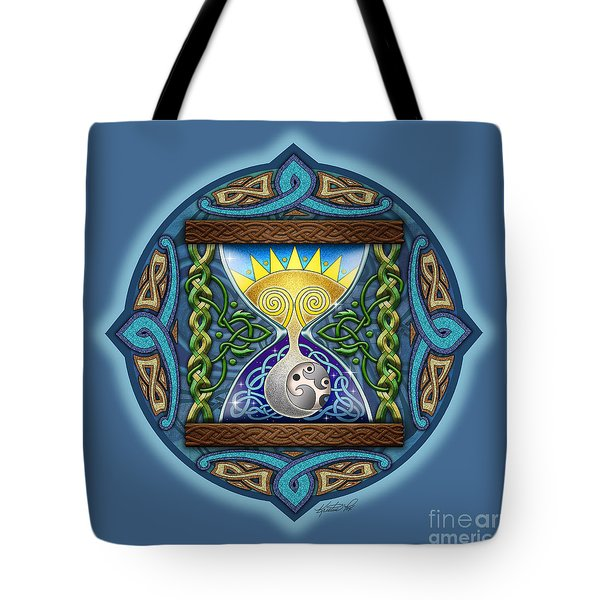 Celtic Sun Moon Hourglass Tote Bag