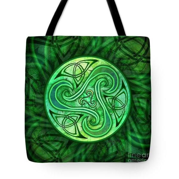Celtic Triskele Tote Bag