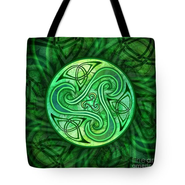 Celtic Triskele Tote Bag
