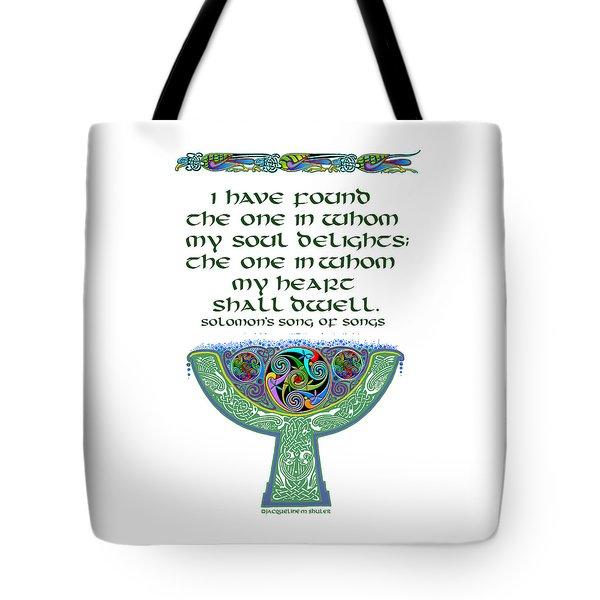 Celtic Wedding Goblet Tote Bag