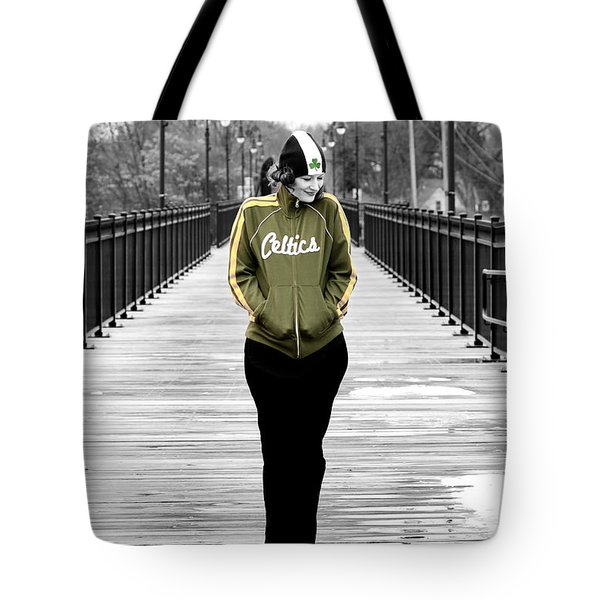 Celtics Girl Tote Bag by Greg Fortier