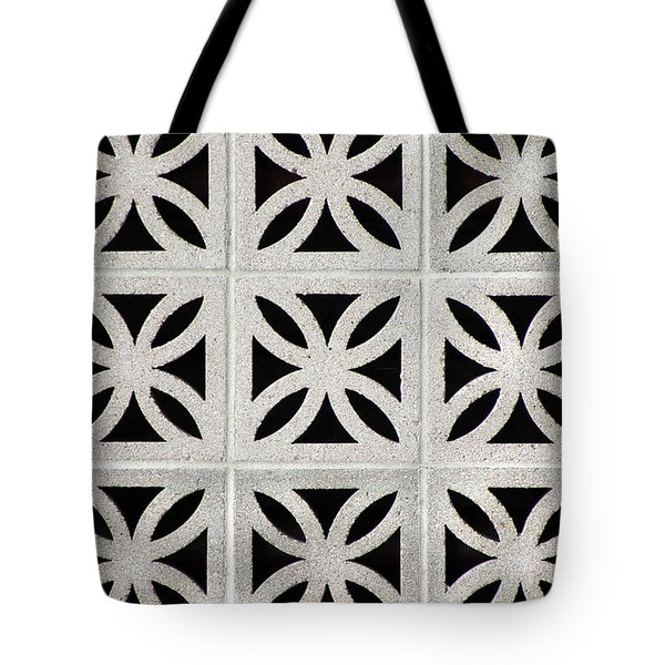 Tote Bag featuring the photograph Cement Wall 1 Horizontal by E B Schmidt