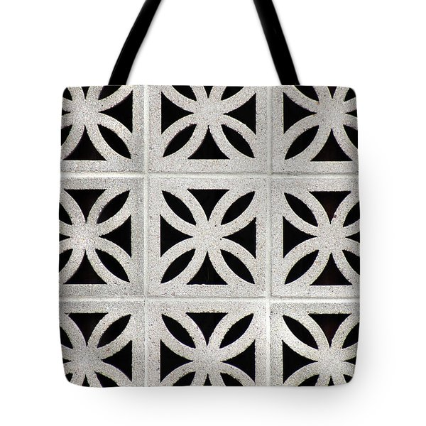 Tote Bag featuring the photograph Cement Wall 1 Vertical by E B Schmidt
