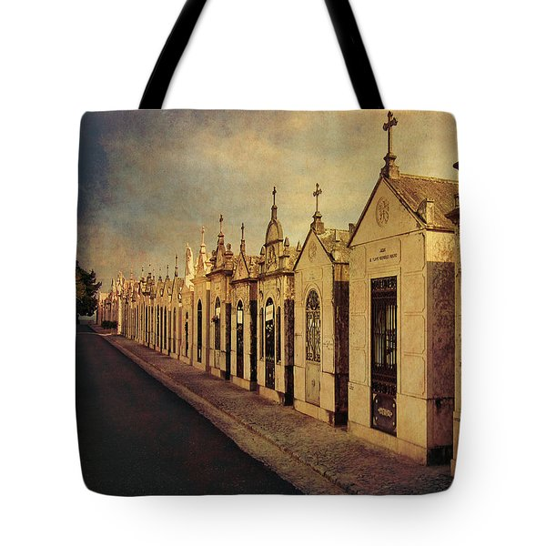 Tote Bag featuring the photograph Cemetary In Santarem Portugal by Menega Sabidussi