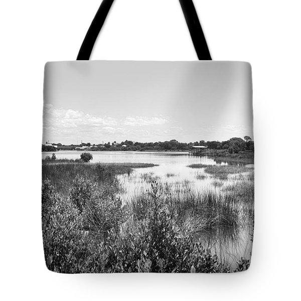 Tote Bag featuring the photograph Cemetary Point Boardwalk by Howard Salmon