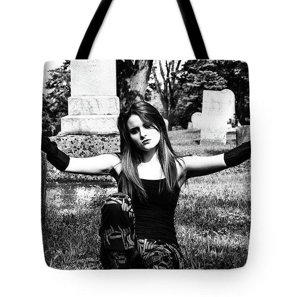 Cemetery Girl Tote Bag