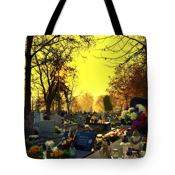 Cemetery In Feast Of The Dead Tote Bag