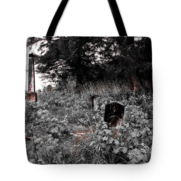 Cemetery In Red Tote Bag