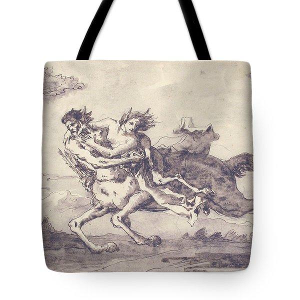 Centaur Abducting A Satyress Tote Bag