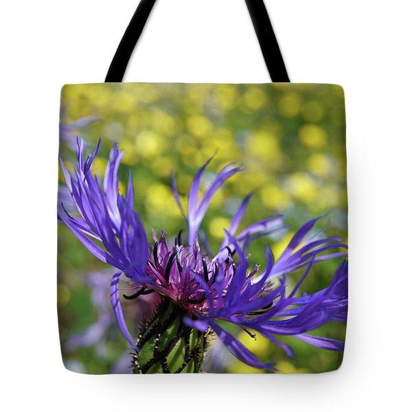 Centaurea Montana Flower Tote Bag