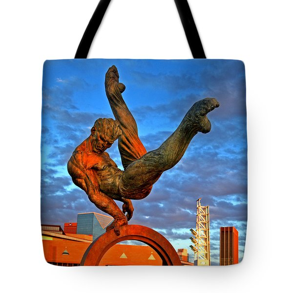 Centennial Park Statue 001 Tote Bag by George Bostian