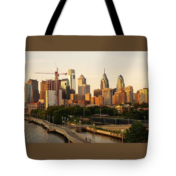 Tote Bag featuring the photograph Center City Philadelphia by Ed Sweeney