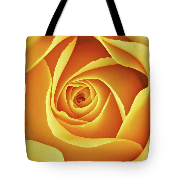 Center Of A Yellow Rose Tote Bag