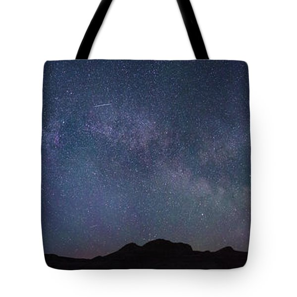 Center Of The Milky Way Over The Badlands Tote Bag