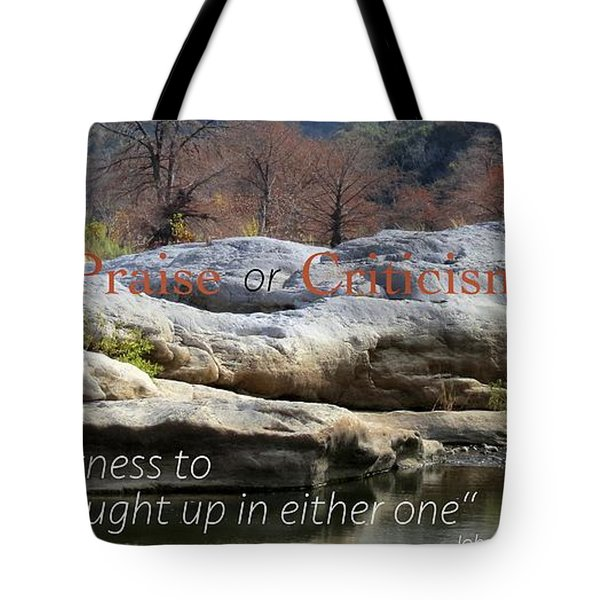 Centered In Humility Tote Bag by David Norman