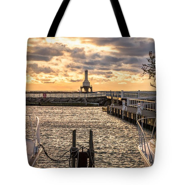 Centered In The Marina Tote Bag