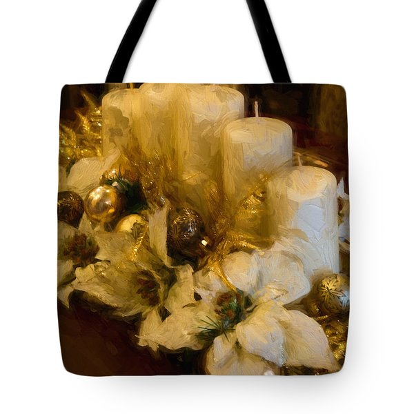 Centerpiece For Christmas Tote Bag