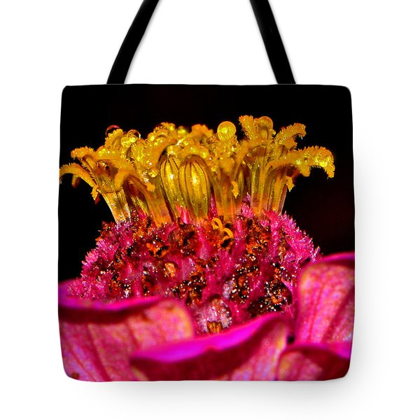Centerpiece - Zinnia Crown 001 Tote Bag