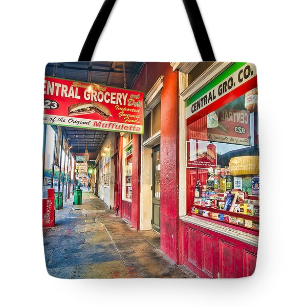 Central Grocery And Deli In The French Quarter Tote Bag