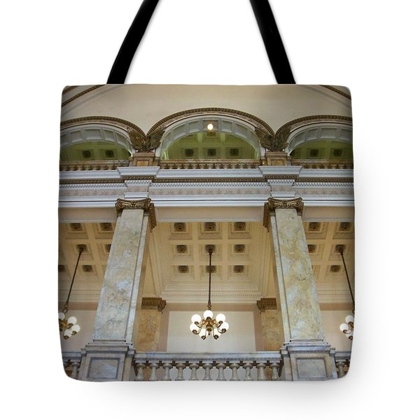 Central Library Milwaukee Interior Tote Bag