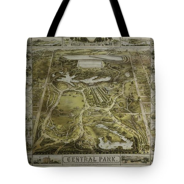 Central Park 1863 Tote Bag by Duncan Pearson
