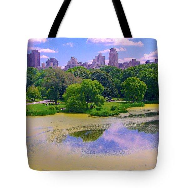 Central Park And Lake, Manhattan Ny Tote Bag