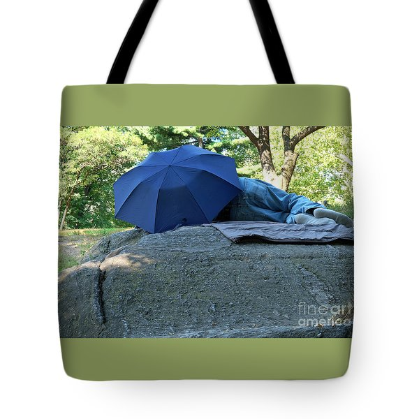 Tote Bag featuring the photograph Central Park Beauty Rest by Vinnie Oakes