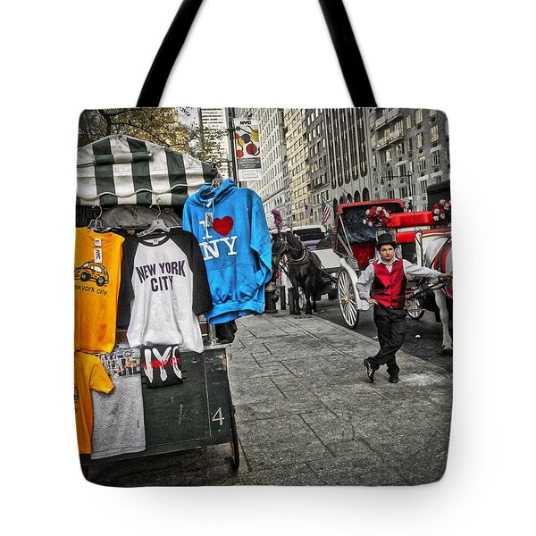 Central Park Carriage Horse Tote Bag by Joan Reese