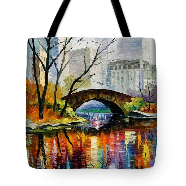 Central Park Tote Bag by Leonid Afremov