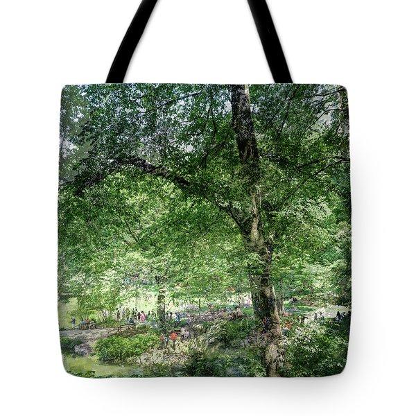 Central Park Montage Tote Bag
