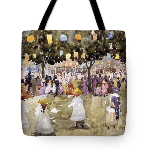 Central Park  New York City  July Fourth  Tote Bag by Maurice Prendergast