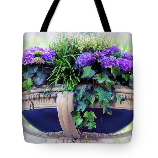 Tote Bag featuring the photograph Central Park Planter by Jessica Jenney