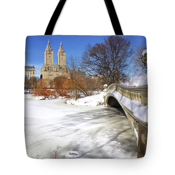 Central Park Winter Tote Bag