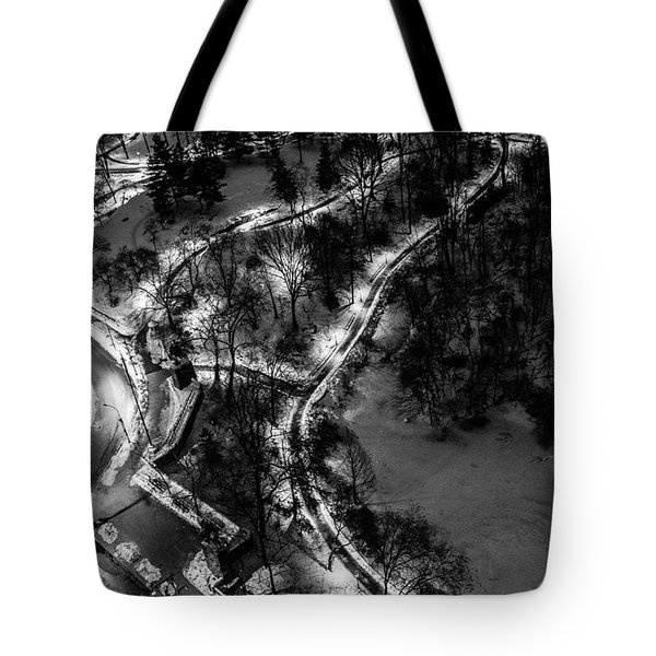 Tote Bag featuring the photograph Central Park Trails by M G Whittingham