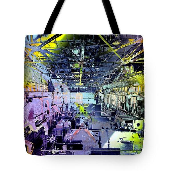 Grunge Central Power Station Tote Bag