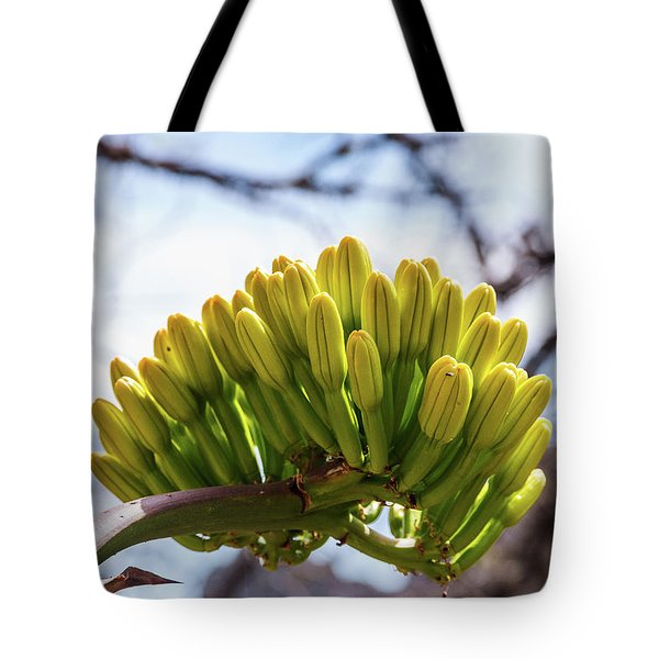 Tote Bag featuring the photograph Century Plant Flower by Lon Dittrick