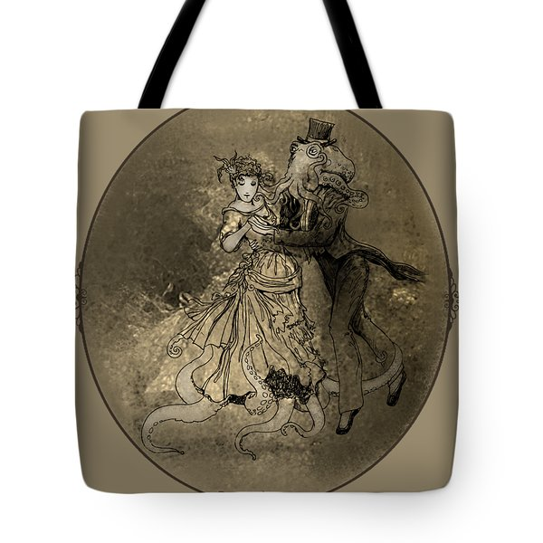 Cephalopod Dancers Tote Bag by Katherine Nutt