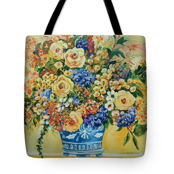 Ceramic Blue Tote Bag